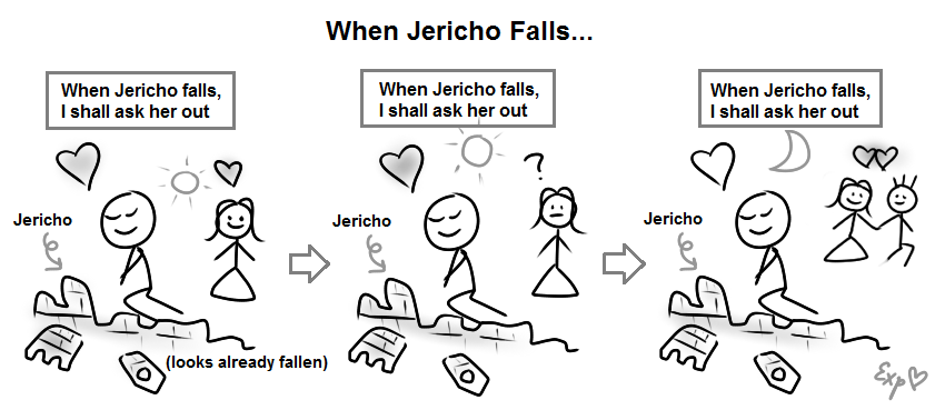 When Jericho falls, I shall ask her out